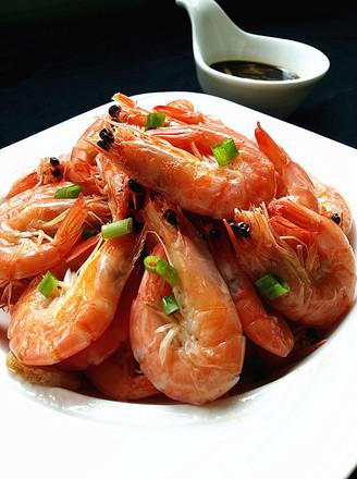 盐水对虾的做法