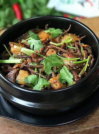 麻辣茶树菇干锅的做法