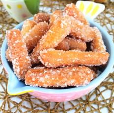 零食炒米怎么做休闲零食~江米条的做法