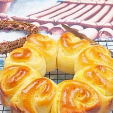 奶黄花环面包