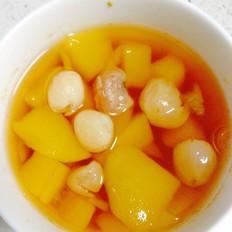 芒果桂圆红糖水