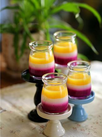 多彩水果布丁的做法