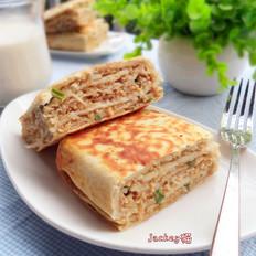 剩的油饼怎么吃好吃葱香肉馅饼的做法
