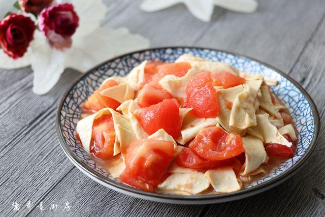 西红柿豆腐皮的做法