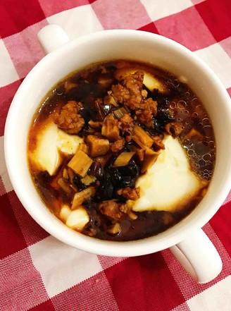 香菇肉沫豆腐脑的做法