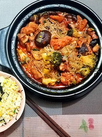 韩式酱香鸡公煲的做法