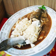 燒汆海鱸魚