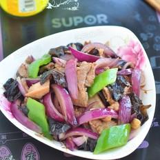 洋蔥木耳炒肉