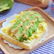 牛油果鸡蛋三明治丘比沙拉汁