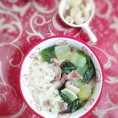 香菇肉丝鸡汤面
