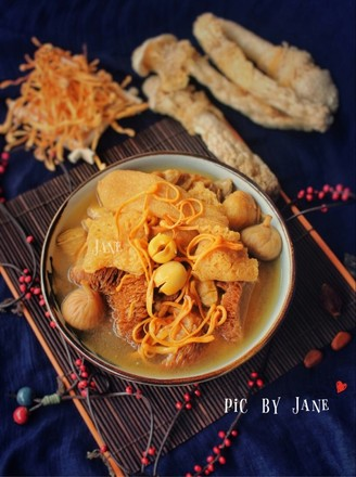 猴头菇虫草花竹荪汤的做法