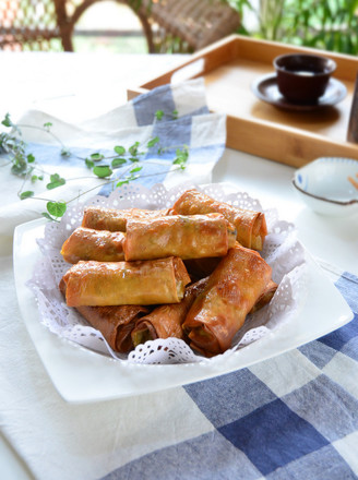 香菜腐皮卷的做法