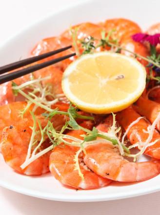 百里香蒸烤鲜虾的做法