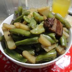 土豆豆角燴肉