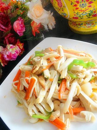 海鲜菇炒肉的做法