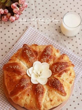 花型皇冠大面包的做法