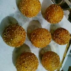 紅薯麻團(紅豆餡)