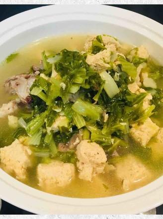大棒骨炖白菜冻豆腐的做法