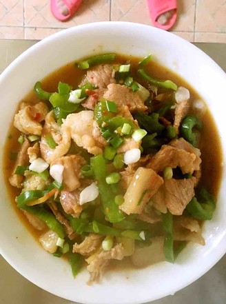 青椒炒肉片的做法