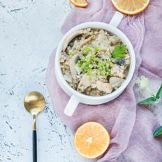 减脂奶汁蘑菇炖荞麦饭