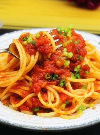 罗勒风味番茄酱意面的做法