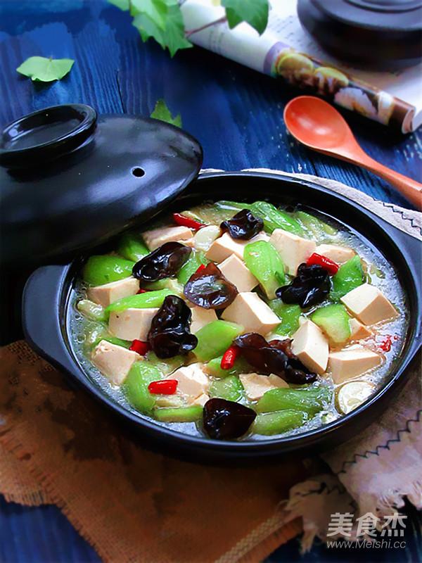 絲瓜燉豆腐成品圖