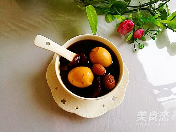 紅棗桂圓煮雞蛋甜湯成品圖