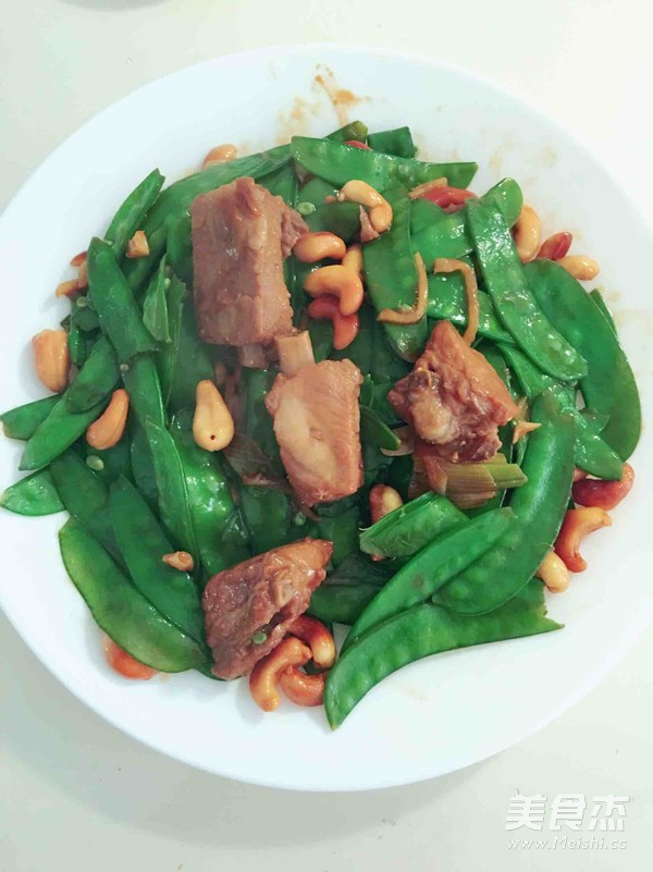 荷蘭豆炒腰果小排成品圖