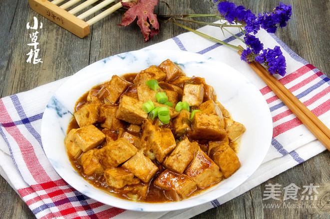 飯店超級下飯大眾菜熘醬豆腐成品圖