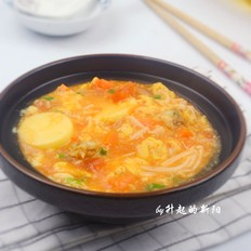 番茄豆腐海鲜浓汤