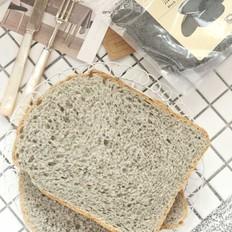 黑芝麻粉面包(面包机版)