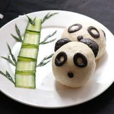 熊猫豆沙包的做法