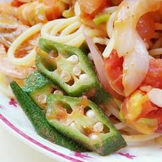 茄汁鲜虾意面