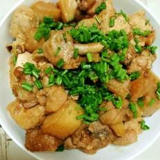鸡肉炖土豆、豆腐
