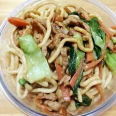 青菜肉丝炒面