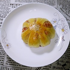 果酱花形面包