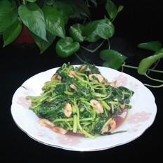 虾子炒苋菜