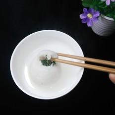 青菜鸡蛋馅糯米汤圆