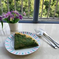 春天不可缺少的一抹绿,菠菜汁蛋饼的做法