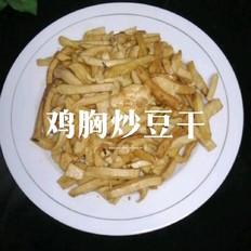 鸡胸炒豆干