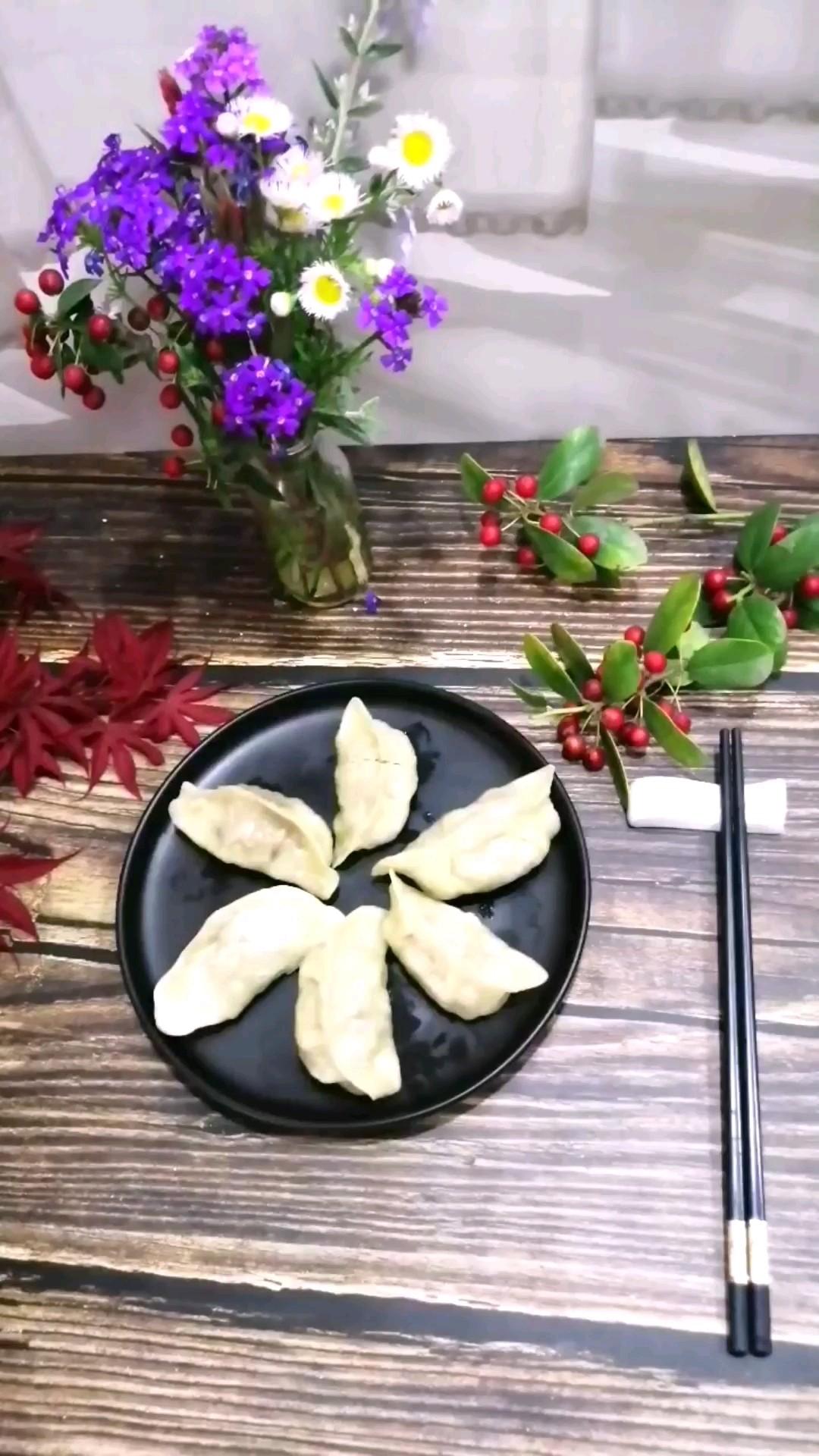 蛋黄三丁蒸饺