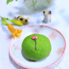 樱花抹茶蜜豆面包