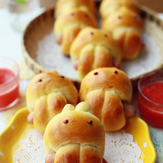 萌兔面包可爱的小面包