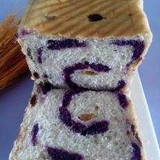 紫薯葡萄干吐司