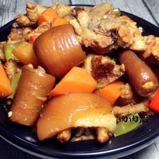 胡萝卜焖猪尾肉肉厨