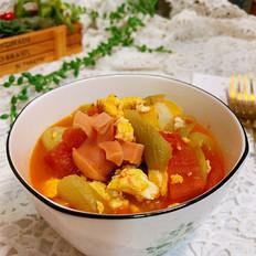 番茄丝瓜丸子汤