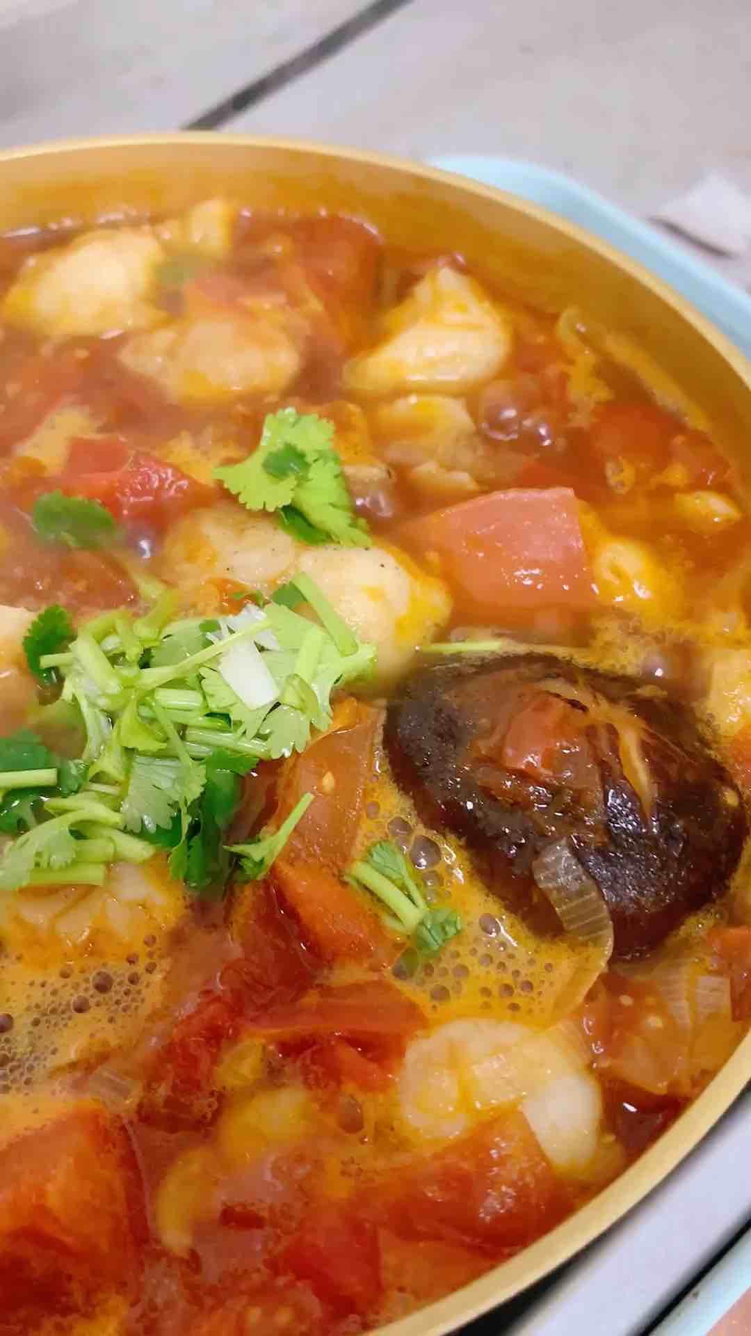番茄酸汤龙利鱼