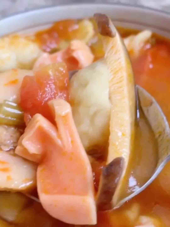 番茄咖喱丸子汤