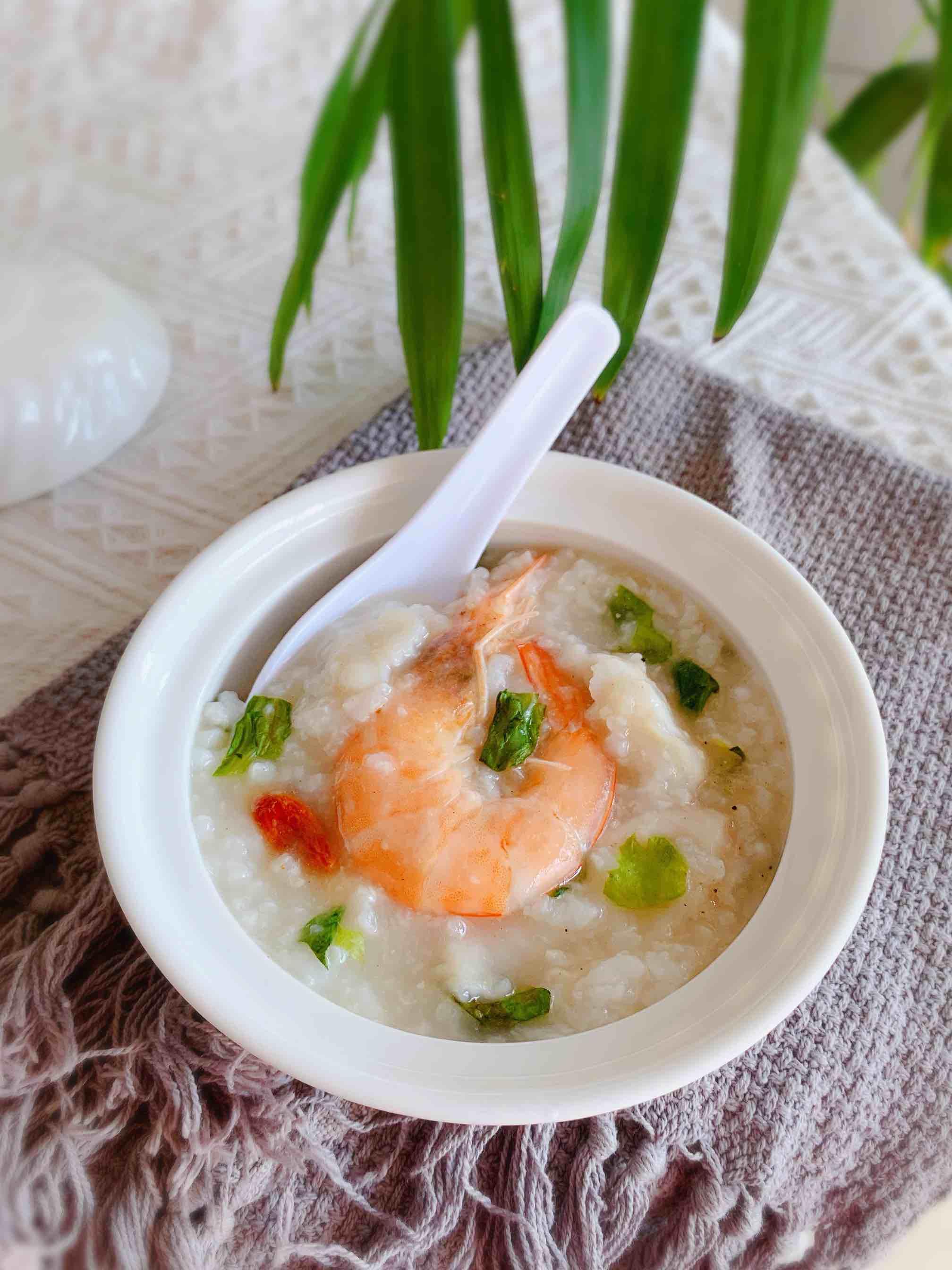 鲜虾鱼片粥