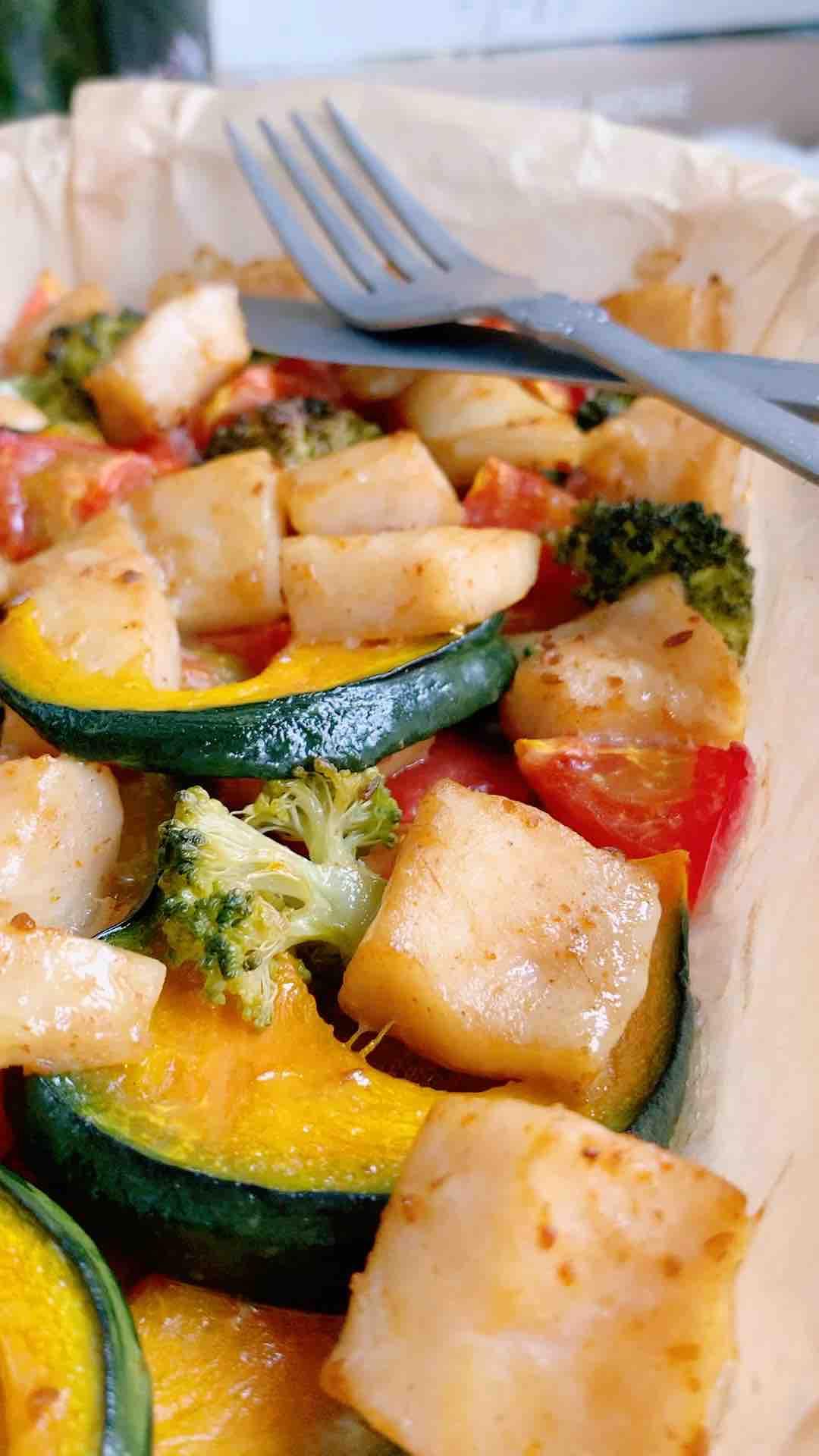 减肥最爱吃的龙利鱼烤南瓜